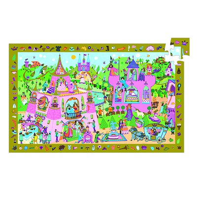 Djeco-07556 Puzzle Observation - Princesse