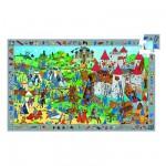 Puzzle  Djeco-07559 Poster et jeu d'observation : Chevaliers