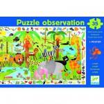 Puzzle  Djeco-07590 Poster et jeu d'observation : La jungle