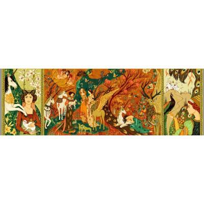 Puzzle Djeco-07624 Gallery : Dames à la licorne