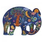 Puzzle  Djeco-07652 Puzz'Art - Eléphant