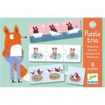 Djeco-08149 Puzzle Trio - Histoires