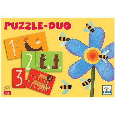 Djeco-08151 Puzzle 10 x 2 pièces - Duo chiffres