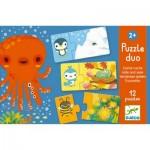 Djeco-08156 Puzzle Duo - Cache-Cache