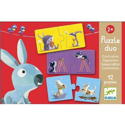 Djeco-08162 Puzzle 12 x 2 pièces - Duo Contraires