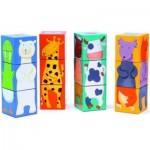 Djeco-08208 Puzzle Cubes - Drôles d'animaux