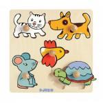 Puzzle  Djeco-DJ-01008 Encastrement en Bois - Pioupiou