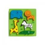 Puzzle  Djeco-DJ-01023 Encastrement en Bois - Incrocodible