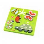 Puzzle  Djeco-DJ-01025 Encastrement en Bois - Kimi