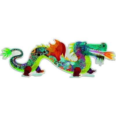 Djeco-DJ-07170 Puzzle Géant : Léon le dragon