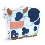 Puzzle  Djeco-DJ-07205 Boîte Silhouette - Les Vaches à la Ferme