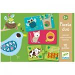 Djeco-DJ-08164 Puzzle Duo - Géraldine Cosneau : Habitat