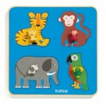 Puzzle Cadre en Bois - Family Jungle