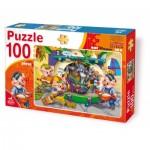 Puzzle  Deico-Games-61492 Les 3 Petits Cochons