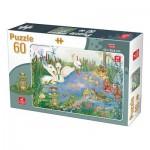 Puzzle  Deico-Games-76496 Animaux du Lac