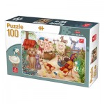 Puzzle  Deico-Games-76502 Animaux de la Ferme