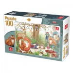 Puzzle  Deico-Games-76519 Animaux de la Forêt