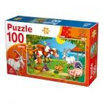 Puzzle  Deico-Games-76601 Animaux de la Ferme