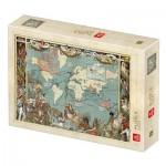 Puzzle  Deico-Games-77561 Vintage Map