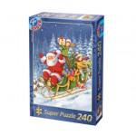 Dtoys-50670-XM-06 Puzzle de Noël - Le traineau du Père Noël