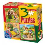Puzzle  Dtoys-50922-BS-05 Contes et Légendes : Hansel et Gretel, le Petit Chaperon Rouge, Le Chat Botté