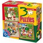 Puzzle  Dtoys-50922-BS-07 Contes et Légendes : Pinocchio, Blanche Neige et les sept Nains, Le Petit Chaperon Rouge