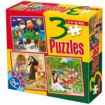Puzzle  Dtoys-50922-BS-08 Contes et Légendes : Pinocchio, Hansel et Gretel, Blanche Neige et les sept Nains