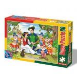Puzzle  Dtoys-60396-PV-02 Pièces XXL : Blanche Neige et les 7 Nains
