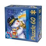 Puzzle  Dtoys-60709-XM-05 Bonhomme de neige de Noël