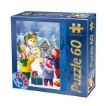 Puzzle  Dtoys-60709-XM-07 Le Bonhomme de Neige de Noël