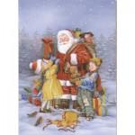 Puzzle  Dtoys-60709-XM-08 Le Père Noël et les enfants