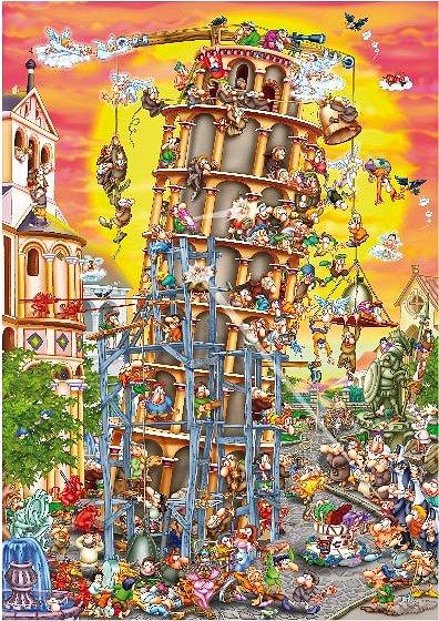 Puzzle Dtoys-61218 Cartoon Collection - Tour de Pise