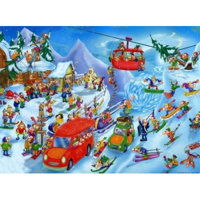 Puzzle DToys-61218-CC05-(74713) Cartoon Collection - Hiver