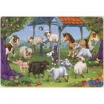 Puzzle  Dtoys-61454-AN-04 Color Me : La ronde des animaux de la ferme