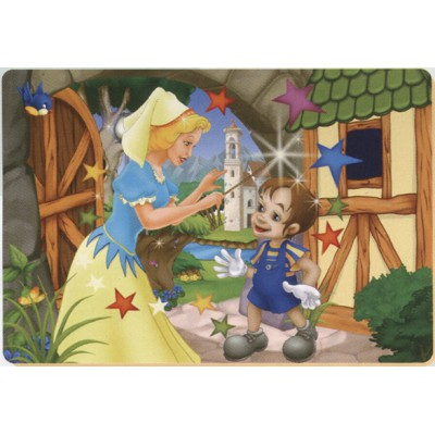 Puzzle Dtoys-61454-BA-02 Color Me : Pinocchio et la fée