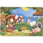 Puzzle  Dtoys-61492-AN-04 Coloriez Moi ! Animaux de la ferme