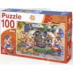 Puzzle  Dtoys-61492-BA-01 Coloriez Moi ! Le loups et les 3 petits cochons
