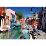 Puzzle  DToys-62154-EC10 Burano - Italie