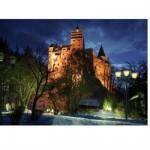 Puzzle  DToys-63038-MN09-(70746) Roumanie : Château de Bran