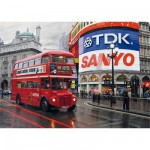 Puzzle  DToys-64301-NL01 Paysages nocturnes - Londres, Piccadilly Circus