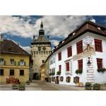 Puzzle  DToys-65995-DE02 Roumanie : Schasburg, Sighisoara