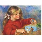 Puzzle  DToys-66909-RE07X-(70296) Renoir Auguste - Claude Renoir jouant