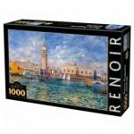 Puzzle  DToys-66909-RE08-(74911) Pierre-Auguste Renoir: Le Palais des Doges, Venise