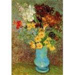 Puzzle  DToys-66916-VG02 Van Gogh Vincent - Fleurs dans un vase bleu
