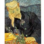 Puzzle  DToys-66916-VG06 Van Gogh Vincent - Portrait du docteur Gachet