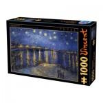 Puzzle  Dtoys-66916-VG11-(74928) Van Gogh Vincent - Nuit Etoilée sur le Rhône