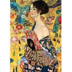 Puzzle  DToys-66923-KL03 Klimt Gustav - Femme à l'éventail (détail)