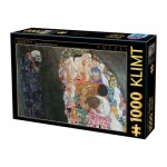 Puzzle  Dtoys-66923-KL10-(74935) Klimt Gustav - La Vie et la Mort, 1916