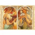 Puzzle  DToys-66930-MU06-(70074) Mucha Alphonse - Fruit et Fleur