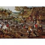 Puzzle  Dtoys-66947-BR01-(66947) Brueghel Pieter le jeune - Printemps